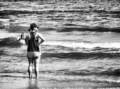 lake_runner4_bw