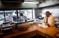 Ravi's owner and Antonio the cook