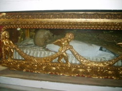 Pedro Claver's remains under an altar in the main sanctuary.