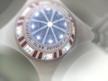 Inside cupola of San Pedro Claver Church.