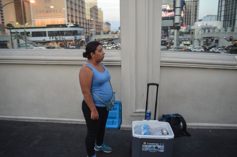 Selling water to survive in Vegas-9356