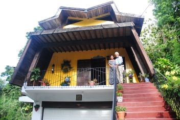Erik and Melba Perez in their El Verde, Puerto Rico home